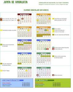 Calendario Escolar Curso 2014-2015